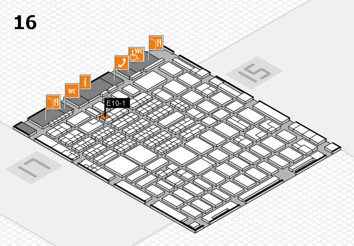 MEDICA 2016 hall map (Hall 16): stand E10-1