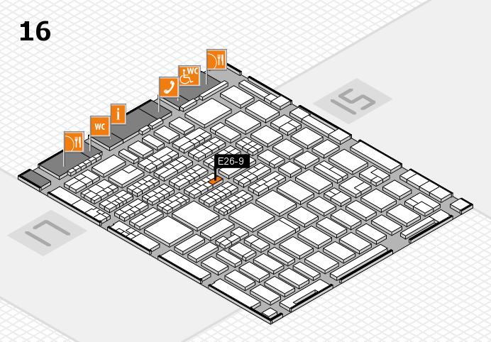 MEDICA 2016 hall map (Hall 16): stand E26-9
