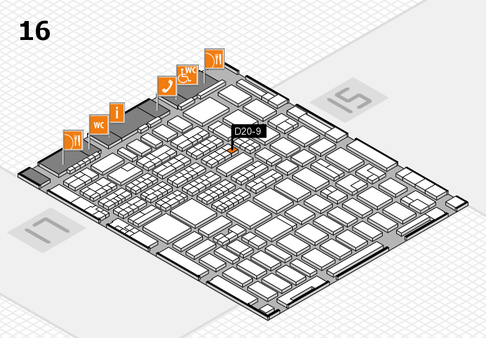 MEDICA 2016 hall map (Hall 16): stand D20-9