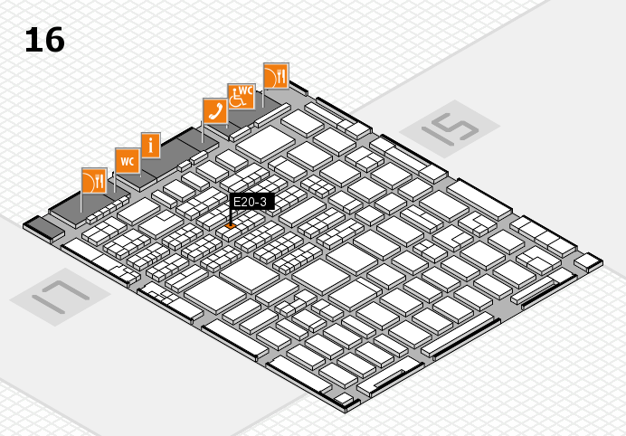 MEDICA 2016 hall map (Hall 16): stand E20-3