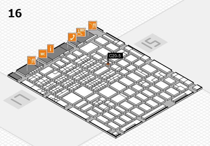 MEDICA 2016 hall map (Hall 16): stand C20-5