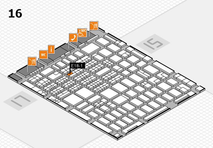 MEDICA 2016 hall map (Hall 16): stand E18-1