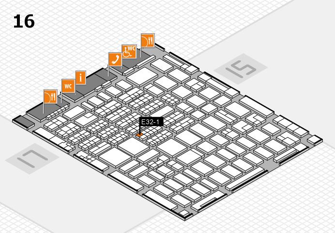 MEDICA 2016 hall map (Hall 16): stand E32-1