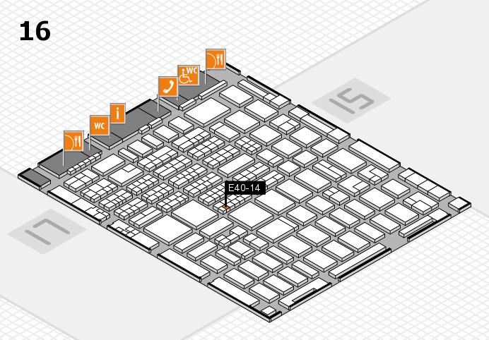 MEDICA 2016 hall map (Hall 16): stand E40-14