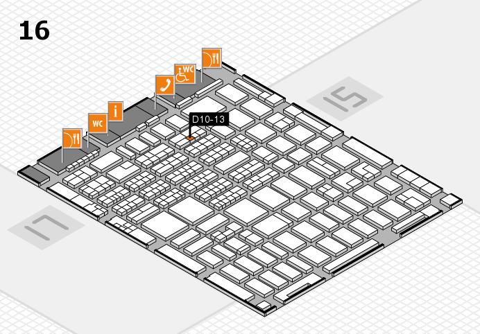 MEDICA 2016 hall map (Hall 16): stand D10-13