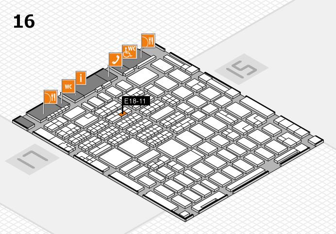 MEDICA 2016 hall map (Hall 16): stand E18-11