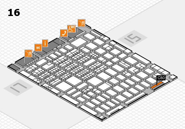 MEDICA 2016 hall map (Hall 16): stand C80