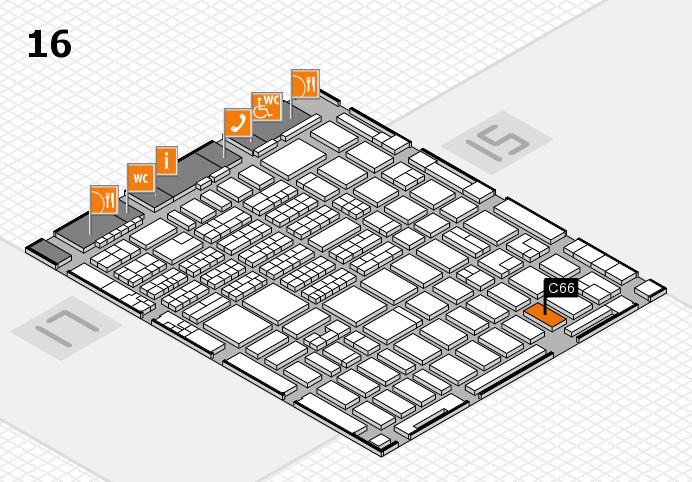 MEDICA 2016 hall map (Hall 16): stand C66