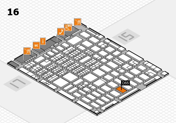 MEDICA 2016 hall map (Hall 16): stand D65