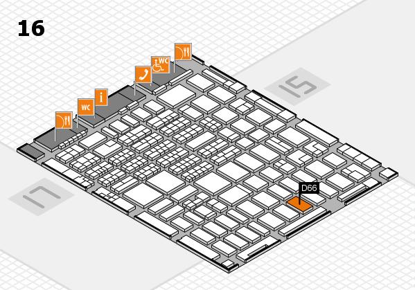 MEDICA 2016 hall map (Hall 16): stand D66