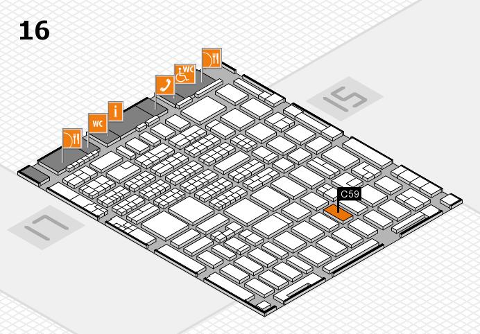 MEDICA 2016 hall map (Hall 16): stand C59