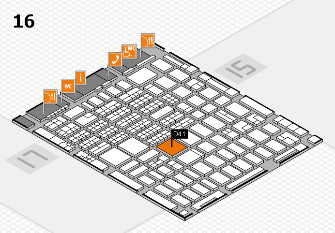 MEDICA 2016 hall map (Hall 16): stand D41