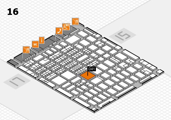 MEDICA 2016 hall map (Hall 16): stand D41