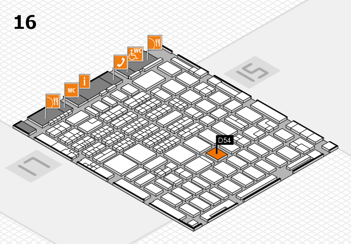 MEDICA 2016 hall map (Hall 16): stand D54