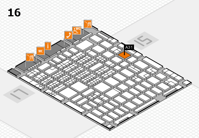 MEDICA 2016 hall map (Hall 16): stand A31