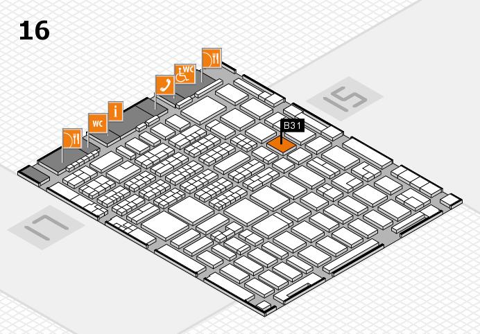 MEDICA 2016 hall map (Hall 16): stand B31