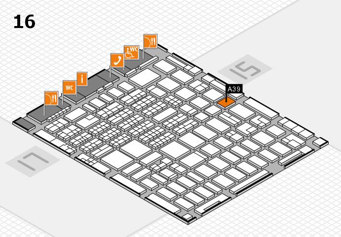 MEDICA 2016 hall map (Hall 16): stand A39
