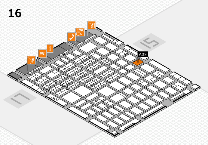 MEDICA 2016 hall map (Hall 16): stand A39