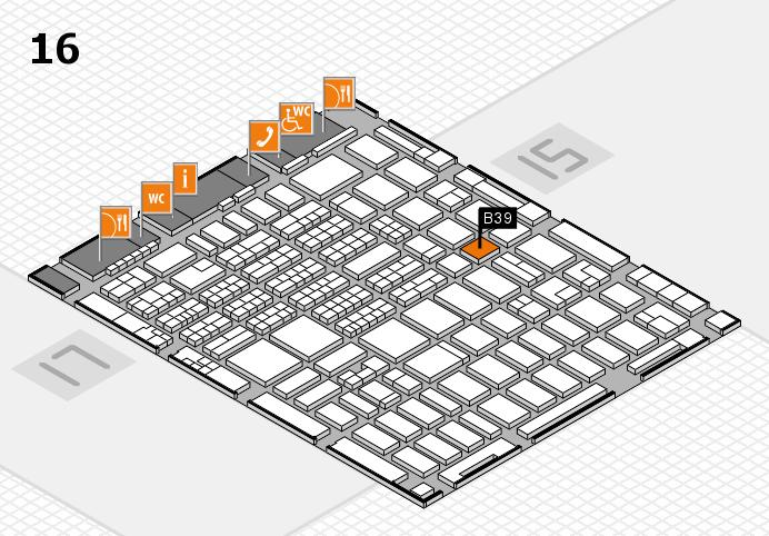 MEDICA 2016 hall map (Hall 16): stand B39