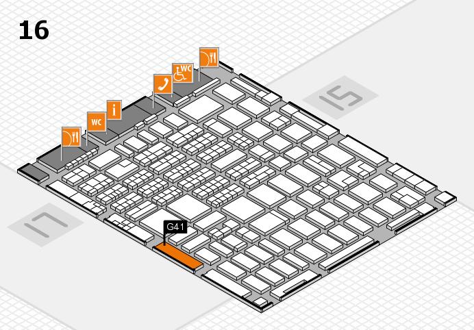 MEDICA 2016 hall map (Hall 16): stand G41