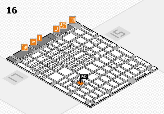 MEDICA 2016 hall map (Hall 16): stand F52