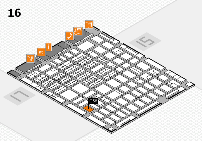 MEDICA 2016 hall map (Hall 16): stand G58