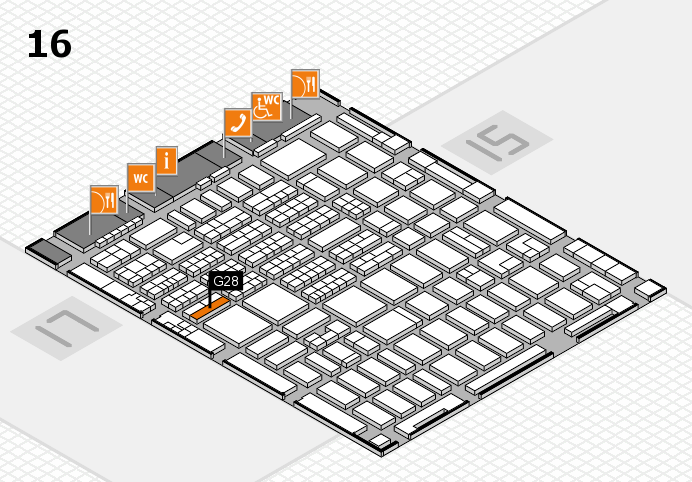 MEDICA 2016 hall map (Hall 16): stand G28