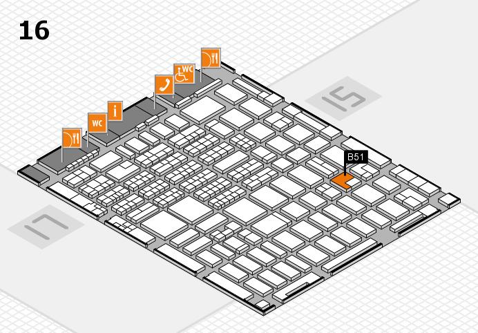 MEDICA 2016 hall map (Hall 16): stand B51