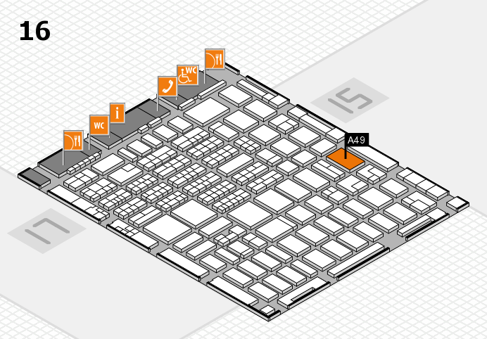 MEDICA 2016 hall map (Hall 16): stand A49