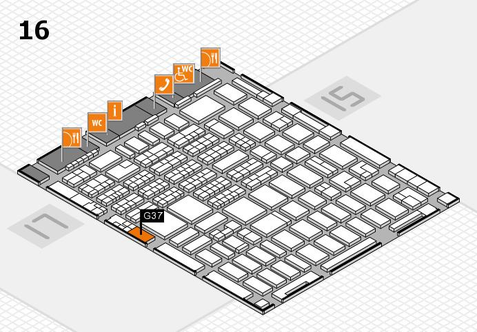 MEDICA 2016 hall map (Hall 16): stand G37