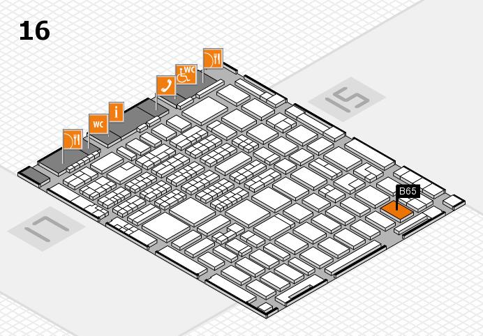 MEDICA 2016 hall map (Hall 16): stand B65
