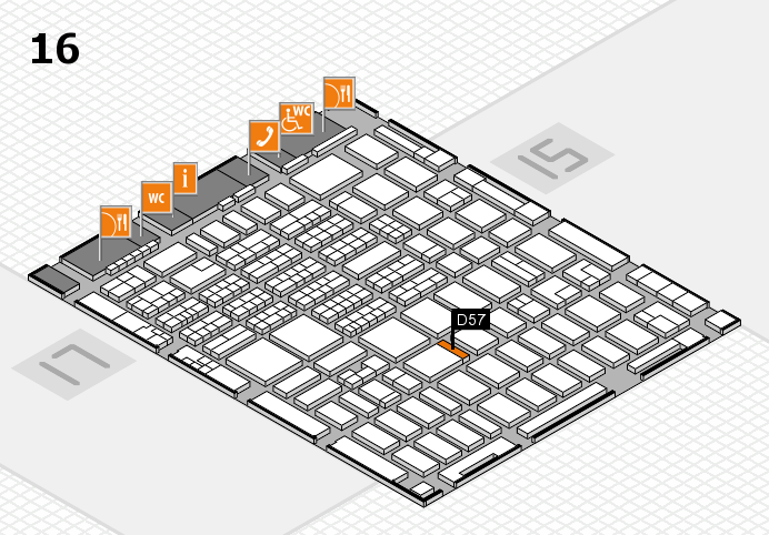 MEDICA 2016 hall map (Hall 16): stand D57