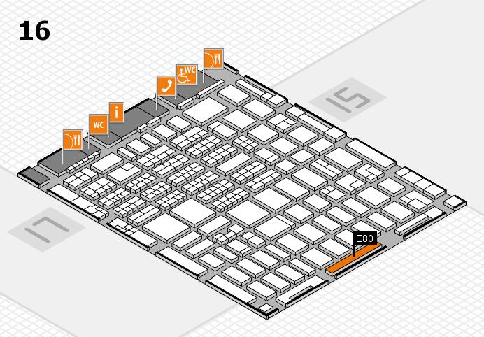 MEDICA 2016 hall map (Hall 16): stand E80
