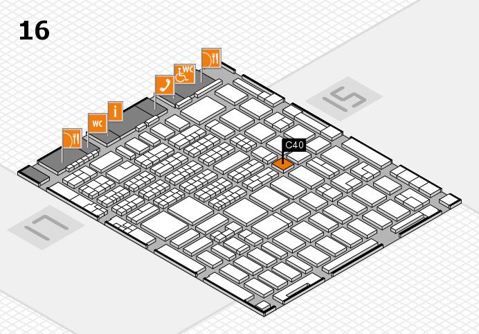 MEDICA 2016 hall map (Hall 16): stand C40