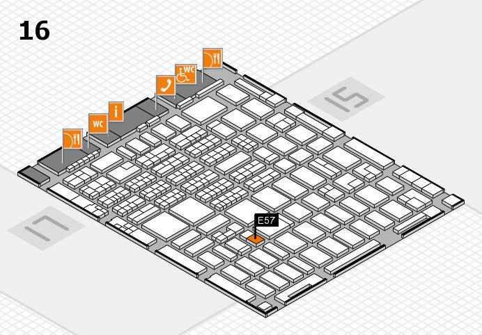 MEDICA 2016 hall map (Hall 16): stand E57