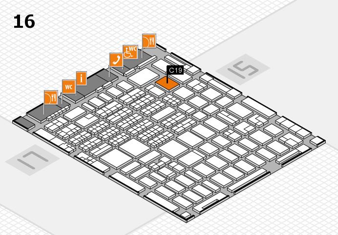 MEDICA 2016 hall map (Hall 16): stand C19
