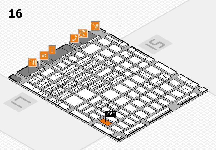 MEDICA 2016 hall map (Hall 16): stand G60