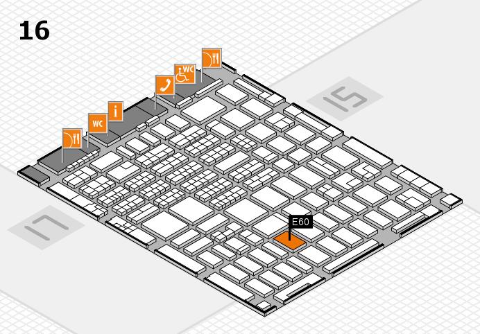 MEDICA 2016 hall map (Hall 16): stand E60