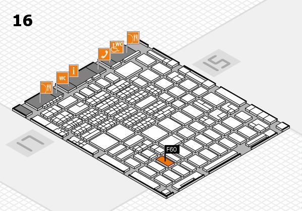 MEDICA 2016 hall map (Hall 16): stand F60
