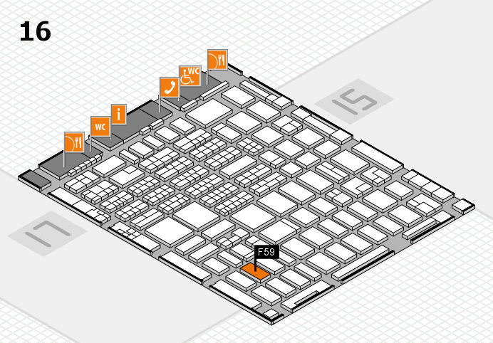 MEDICA 2016 hall map (Hall 16): stand F59