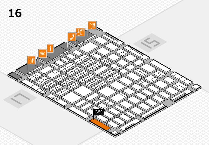 MEDICA 2016 hall map (Hall 16): stand G59