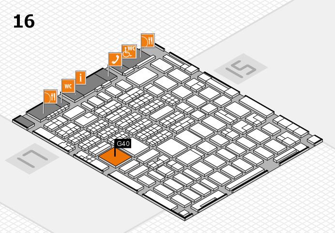 MEDICA 2016 hall map (Hall 16): stand G40