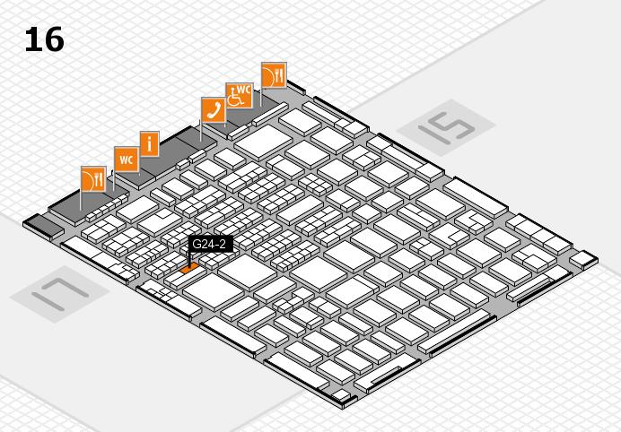 MEDICA 2016 hall map (Hall 16): stand G24-2