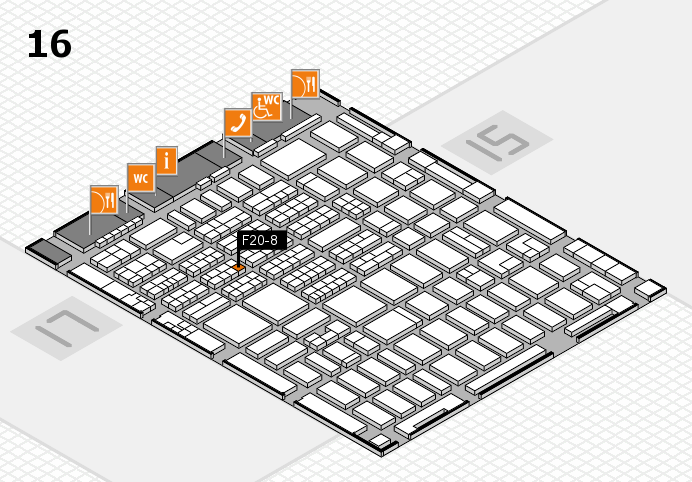 MEDICA 2016 hall map (Hall 16): stand F20-8