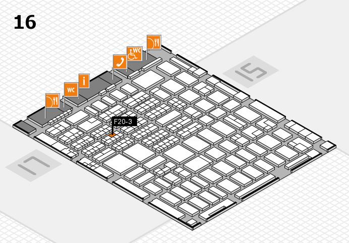 MEDICA 2016 hall map (Hall 16): stand F20-3