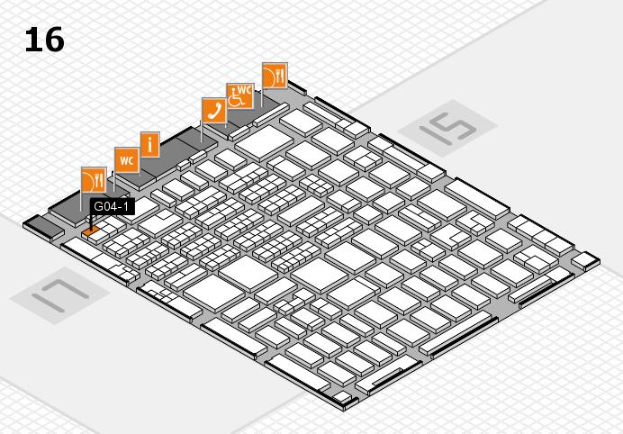 MEDICA 2016 hall map (Hall 16): stand G04-1