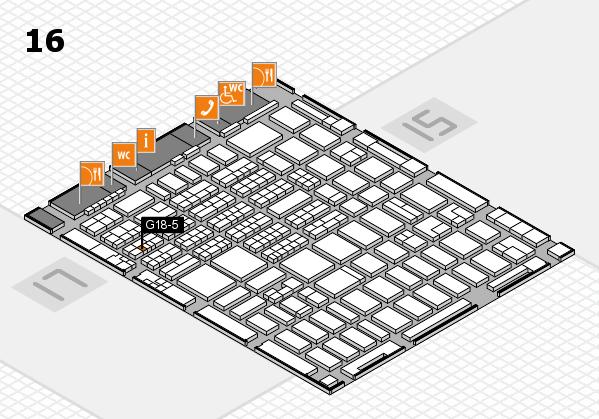 MEDICA 2016 hall map (Hall 16): stand G18-5