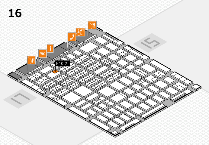 MEDICA 2016 hall map (Hall 16): stand F10-2