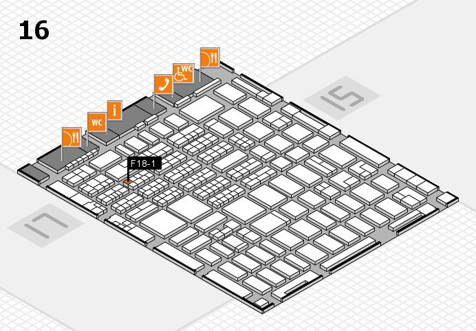 MEDICA 2016 hall map (Hall 16): stand F18-1