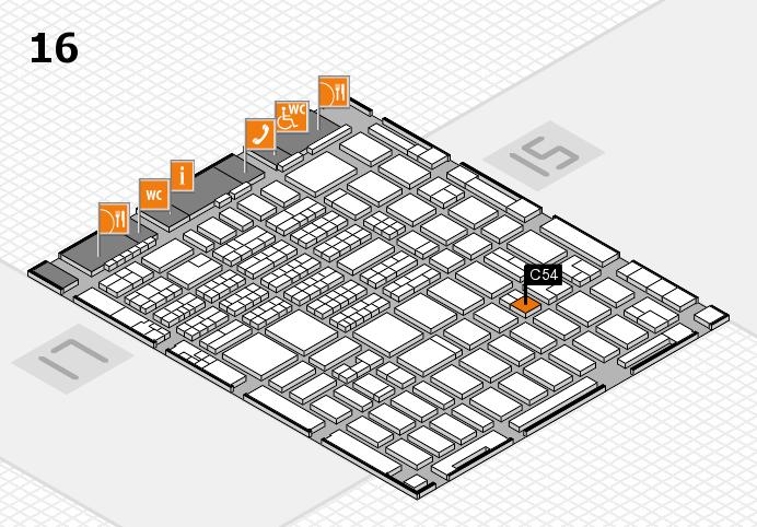 MEDICA 2016 hall map (Hall 16): stand C54